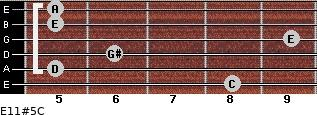 E11#5/C for guitar on frets 8, 5, 6, 9, 5, 5