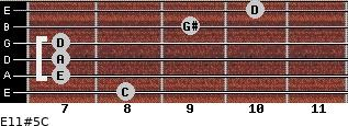 E11#5/C for guitar on frets 8, 7, 7, 7, 9, 10