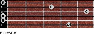 E11#5/G# for guitar on frets 4, 0, 0, 5, 3, 0