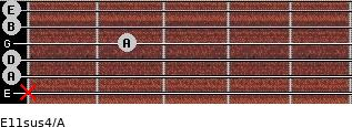 E11sus4/A for guitar on frets x, 0, 0, 2, 0, 0