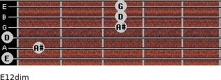 E1/2dim for guitar on frets 0, 1, 0, 3, 3, 3