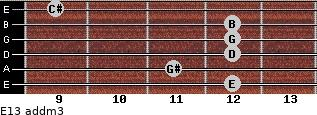E13 add(m3) for guitar on frets 12, 11, 12, 12, 12, 9