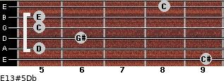 E13#5/Db for guitar on frets 9, 5, 6, 5, 5, 8
