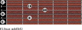 E13sus add(b5) guitar chord