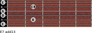 E-7(add13) for guitar on frets 0, 2, 0, 0, 2, 0