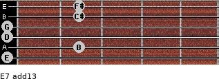E-7(add13) for guitar on frets 0, 2, 0, 0, 2, 2