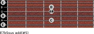 E7b5sus add(#5) guitar chord
