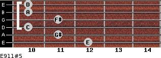 E9/11#5 for guitar on frets 12, 11, 10, 11, 10, 10