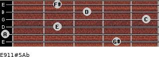 E9/11#5/Ab for guitar on frets 4, 0, 2, 5, 3, 2