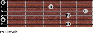 E9/11#5/Ab for guitar on frets 4, 0, 4, 5, 3, 0