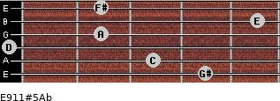 E9/11#5/Ab for guitar on frets 4, 3, 0, 2, 5, 2