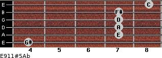 E9/11#5/Ab for guitar on frets 4, 7, 7, 7, 7, 8