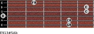 E9/13#5/Ab for guitar on frets 4, 4, 0, 5, 5, 2