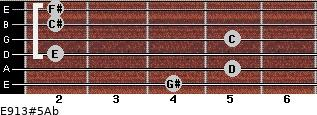 E9/13#5/Ab for guitar on frets 4, 5, 2, 5, 2, 2