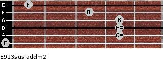 E9/13sus add(m2) guitar chord