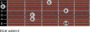 E/G# add(m3) for guitar on frets 4, 2, 2, 4, 0, 3
