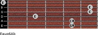 Eaug6/Ab for guitar on frets 4, 4, 2, 5, 5, 0