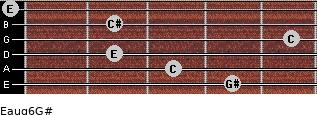Eaug6/G# for guitar on frets 4, 3, 2, 5, 2, 0