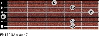 Eb11/13/Ab add(7) guitar chord