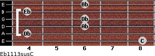 Eb11/13sus/C for guitar on frets 8, 4, 6, 6, 4, 6