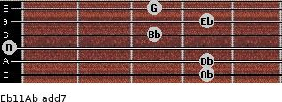 Eb11/Ab add(7) guitar chord