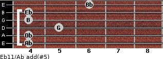 Eb11/Ab add(#5) guitar chord