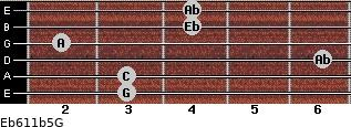Eb6/11b5/G for guitar on frets 3, 3, 6, 2, 4, 4