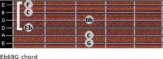 Eb6/9/G for guitar on frets 3, 3, 1, 3, 1, 1