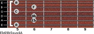 Eb6/9b5sus4/A for guitar on frets 5, 6, 6, 5, 6, 5
