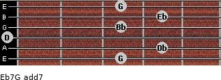 Eb7/G add(7) guitar chord