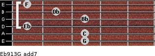 Eb9/13/G add(7) guitar chord