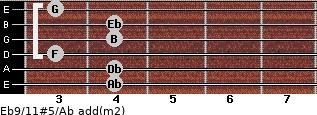 Eb9/11#5/Ab add(m2) guitar chord