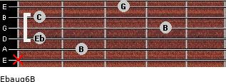 Ebaug6/B for guitar on frets x, 2, 1, 4, 1, 3