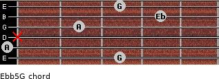 Eb(b5)/G for guitar on frets 3, 0, x, 2, 4, 3