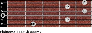 Ebdim(maj11/13)/Gb add(m7) guitar chord