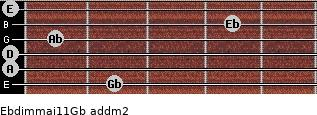 Ebdim(maj11)/Gb add(m2) guitar chord