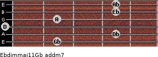Ebdim(maj11)/Gb add(m7) guitar chord