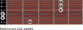 Ebdim(maj11)/Gb add(#5) guitar chord
