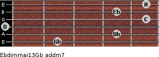Ebdim(maj13)/Gb add(m7) guitar chord