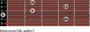 Ebdim(maj7)/Db add(m7) guitar chord