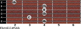 Ebm6/11#5/Ab for guitar on frets 4, 3, 4, 4, 4, 2