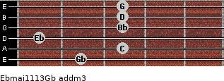 Ebmaj11/13/Gb add(m3) guitar chord