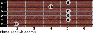 Ebmaj13b5/Gb add(m3) guitar chord