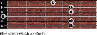 Ebmaj9/11#5/Ab add(m7) guitar chord