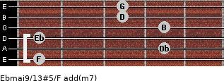 Ebmaj9/13#5/F add(m7) guitar chord