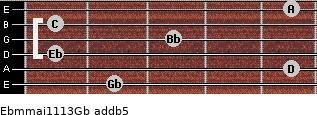 Ebm(maj11/13)/Gb add(b5) guitar chord
