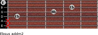 Ebsus add(m2) guitar chord