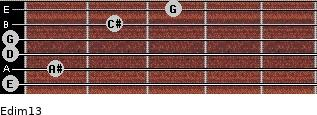 Edim13 for guitar on frets 0, 1, 0, 0, 2, 3