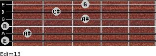 Edim13 for guitar on frets 0, 1, 0, 3, 2, 3