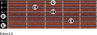 Edim13 for guitar on frets 0, 4, 0, 3, 2, 3